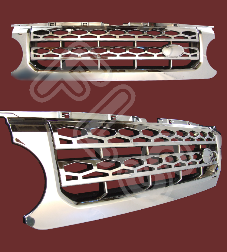 Land Rover Discovery 4 Front Grille Chrome Dis4fg C