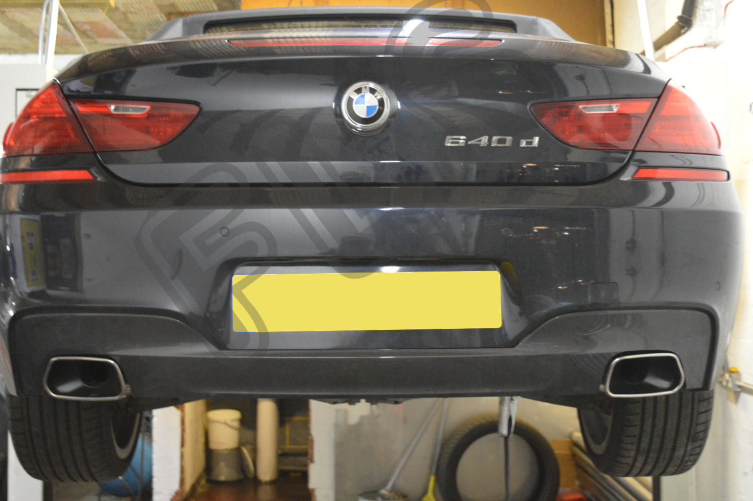 bmw 640 d dual back box exhaust supplied and fitted sfbmw. Black Bedroom Furniture Sets. Home Design Ideas