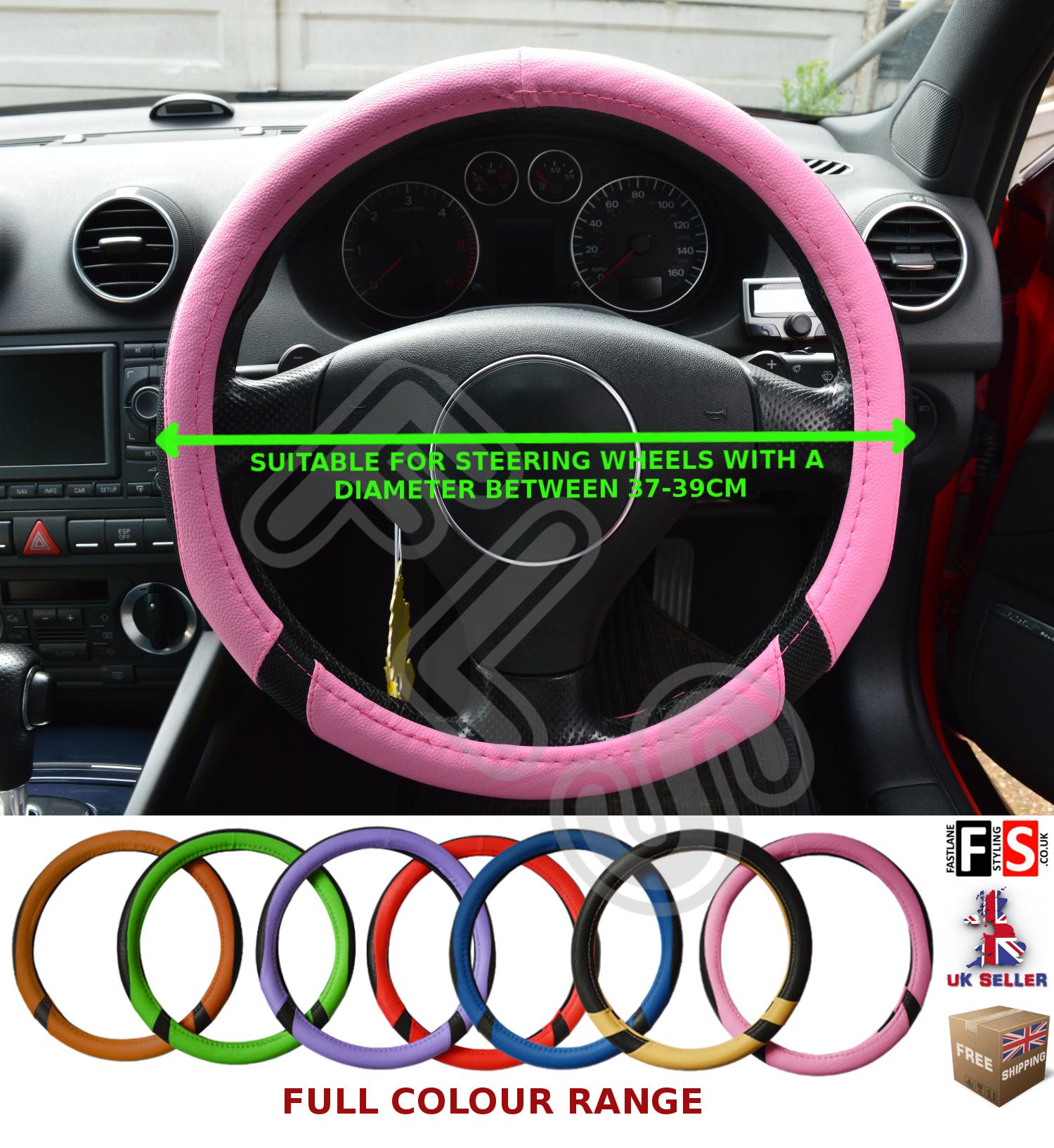 Nissan Note Genuine Black Leather Steering Wheel Glove Universal Fit 37-39cm